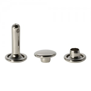 Хольнитены (заклепки) двусторонние, 8 х 8 мм, цвет темное серебро, 10 шт