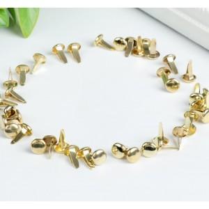 Набор брадсов «Классический», цвет золото, 10 шт, 15,5 х 8,8 х 2 см