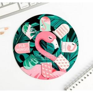 """Набор магнитных закладок """"Фламинго"""", 25 х 35 мм, 8 шт"""
