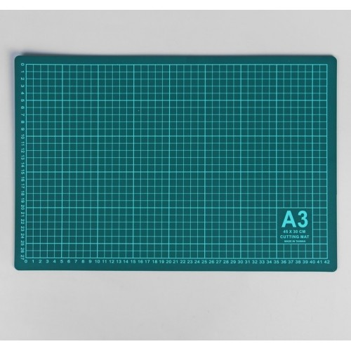 Коврик для резки, формат А3, цвет серо-зелёный