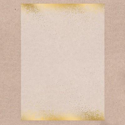 Калька декоративная с тиснением Золотой ветер, 29,7х21 см