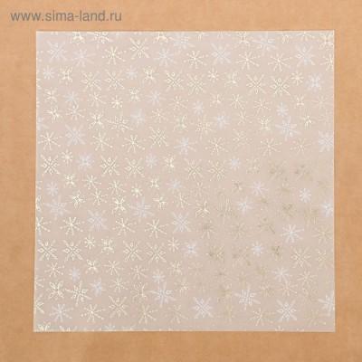 Калька декоративная c фольгированием «Зимнее утро», 30,5 х 30,5 см
