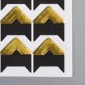 Уголки для фото самоклеящиеся, цвет золото, 24 шт