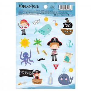 """Наклейки бумажные """"Морское приключение"""", 11 х 16 см"""