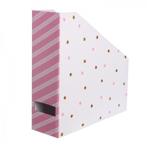 Органайзер под бумагу для скрапбукинга В горошек, 31 х 31 х 9,5 см