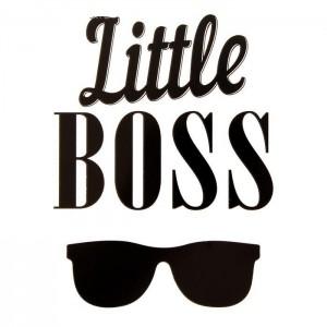 "Термонаклейка ""Little Boss"", 12 х 9 см"