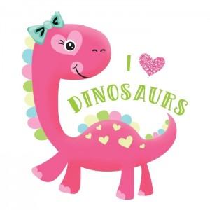 "Термонаклейка ""I love dinosaurs"", 14 х 14 см"