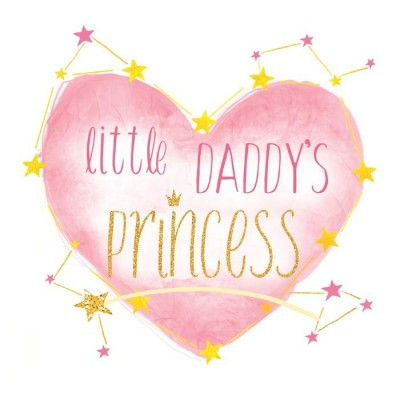 Термонаклейка Daddy's princess, 12 х 14 см