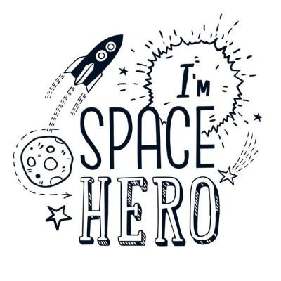 Термонаклейка Space hero, 14 х 14 см