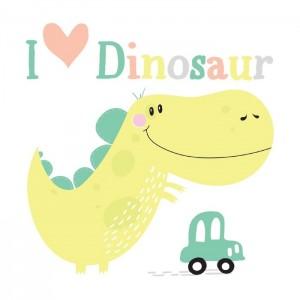 "Термонаклейка ""I love Dino"", 14 х 14 см"