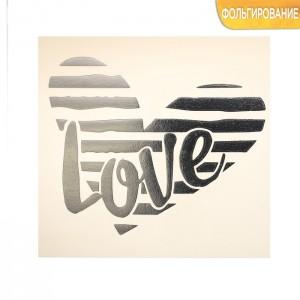 Надпись с тиснением «Любовь», 10 × 10 см