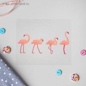 "Термонаклейка ""Фламинго"", 11,5 х 5,3 см"