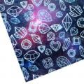 """Бумага упаковочная тишью """"Космос"""", цвет синий, 50 х 70 см, 1 шт"""