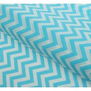 "Бумага упаковочная тишью ""Зигзаги"", цвет бело-голубой, 50 х 66 см, 1 шт"