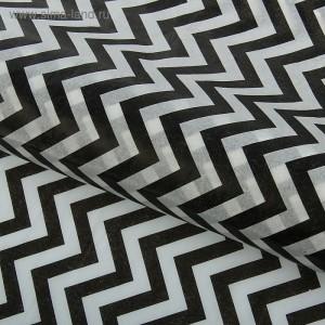 """Бумага упаковочная тишью """"Зигзаги"""", цвет черно-белый, 50 х 66 см, 1 шт"""