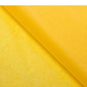 Бумага упаковочная тишью, цвет желтый, 50 см х 66 см, 1 шт