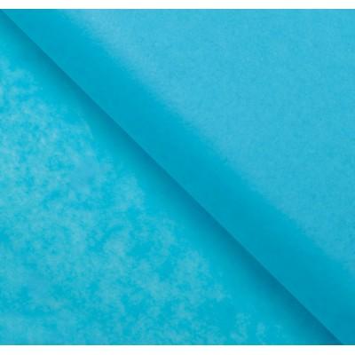 Бумага упаковочная тишью, цвет небесный, 50 см х 66 см, 1 шт