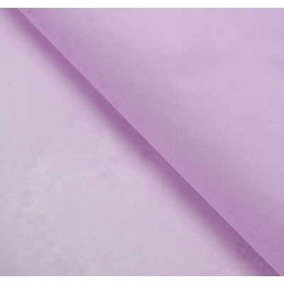 Бумага упаковочная тишью, цвет сиреневый, 50 см х 66 см, 1 шт