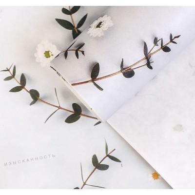 """Бумага упаковочная глянцевая """"Цветы"""", 100 х 70 см, 1 шт"""