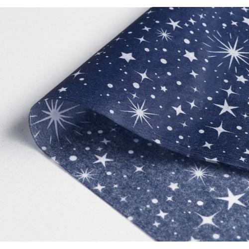 Бумага упаковочная тишью Звёздное небо, 50 х 70 см, 1 шт
