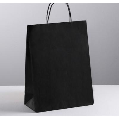 Пакет крафт, цвет черный, 25 х 11 х 32 см