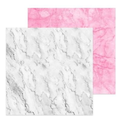 Фотофон двусторонний «Бело-розовый мрамор», 45 × 45 см, переплётный картон, 980 г/м