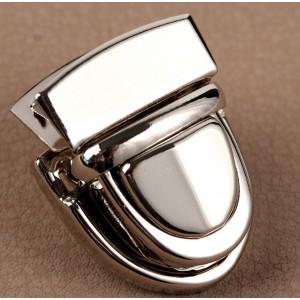 Застёжка металлическая, 3 × 2 см, цвет серебро