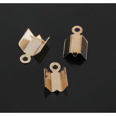 Зажим для лент и резинок, (набор 2 шт), цвет золото, 10 мм
