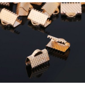 Зажим для ленты, (набор 2 шт), цвет золото, 10 мм