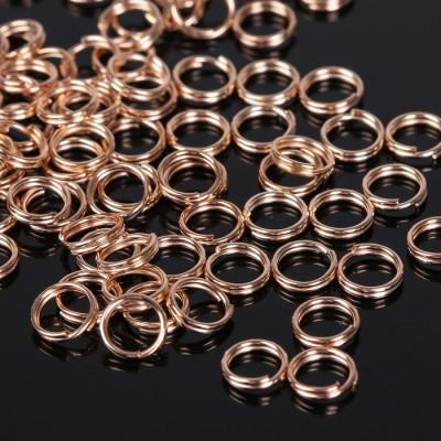 Кольцо соединительное для бижутерии, диам. 6 мм, цвет золото, 2 шт