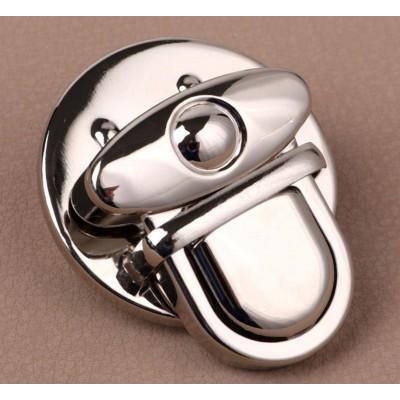 Застёжка металлическая, 3 × 3 см, цвет серебро