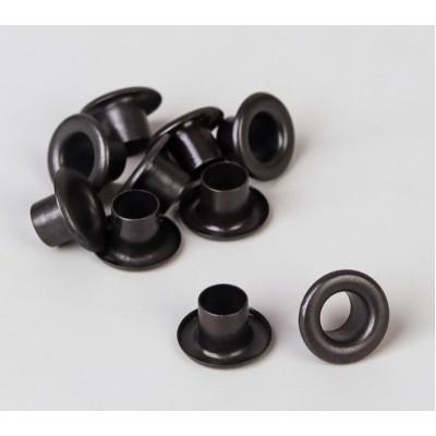 Люверсы, цвет черный, 5 мм, 10 шт