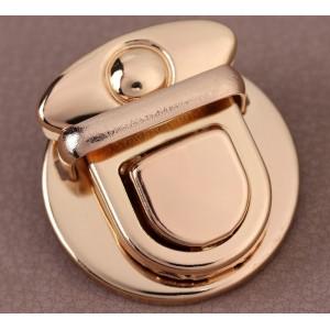 Застёжка металлическая, 3 × 3 см, цвет золото