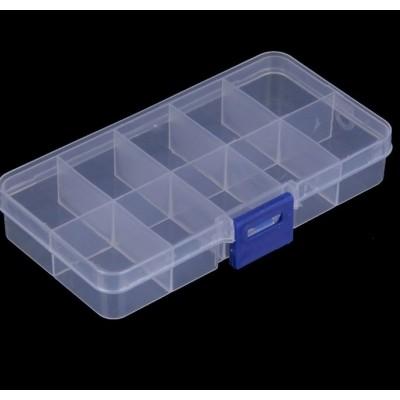 Контейнер пластиковый для хранения, 10 отделений, 13 см × 7 см × 2,5 см