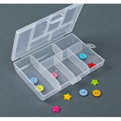 Контейнер пластиковый для хранения, 6 отделений, 12 х 8 см