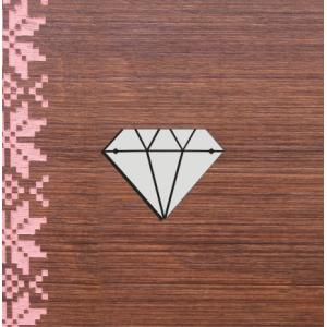 "Бирка пластиковая ""Diamond"", цвет серебро, 50*38 мм"