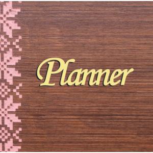 """Бирка пластиковая """"Planner"""", цвет золото, 85*25 мм"""