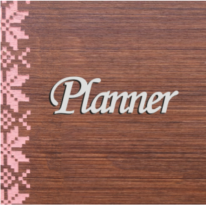 "Бирка пластиковая ""Planner"", цвет серебро, 85*25 мм"