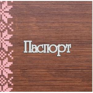 "Бирка пластиковая ""Паспорт"", цвет серебро, 70*24 мм"