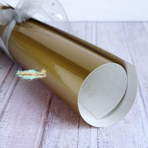 Винил, цвет глянцевое золото, 20х25 см
