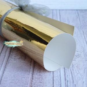 Винил металлизированный, цвет зеркальное золото, 20х20 см