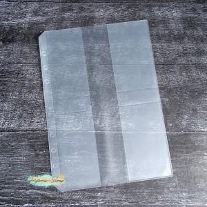 Вкладыш для планера А5, 4 кармана для карт, матовый