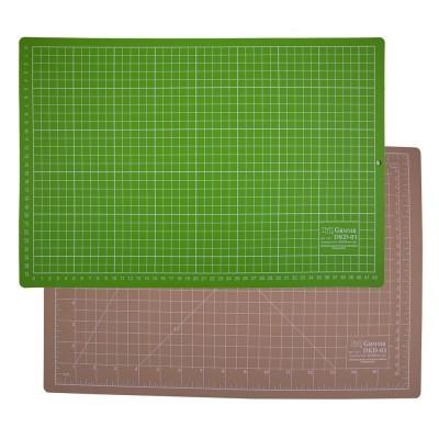 Коврик для резки двусторонний, формат А3, цвет бежевый/салатовый