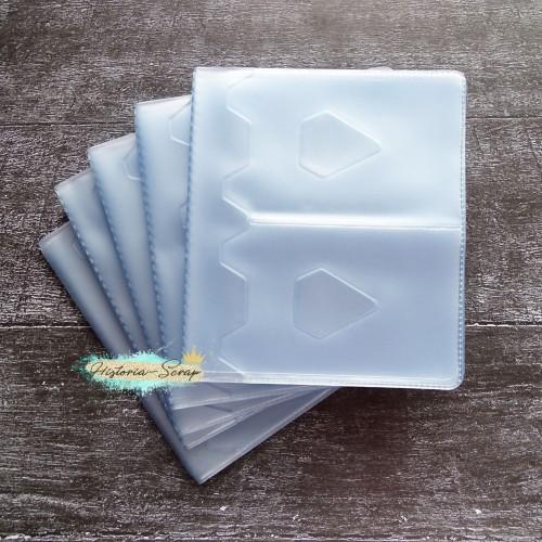 Сет вкладышей горизонтальных для картхолдера, 2 ряда, 24 кармана, 5 шт