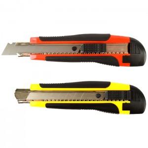 "Нож канцелярский ""Darvish"" 18мм с металлическими направляющими"