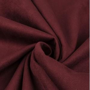 Замша искусственная (образец), цвет бордовый, 4,5 х 7 см