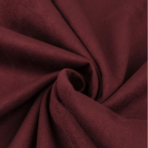 Замша искусственная, цвет бордовый, 4 х 4 см