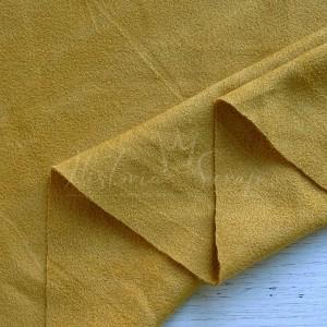 Замша искусственная двусторонняя, цвет горчица, 25*75 (73) см