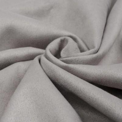 Замша искусственная, цвет светло-серый, 30*25 см