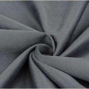 Замша искусственная, цвет стальной, 27*75 см
